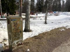 38cm x 74cm. Emännäntien toimintapuisto, Kortepohja